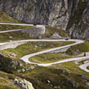 The Old Road To Gotthard Pass Art Print by Buena Vista Images