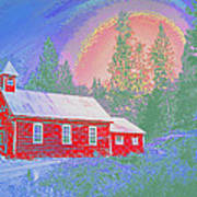 The Old Schoolhouse Library Art Print