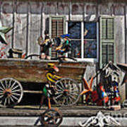 The Old Shed Art Print by Mary Machare