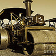 The Old Steam Roller Art Print