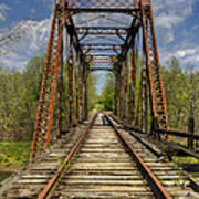 The Old Trestle Art Print by Debra and Dave Vanderlaan