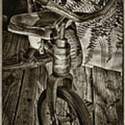 The Old Tricycle Art Print