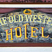 The Old Western Hotel Art Print