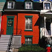 The Orange House In Montreal Art Print