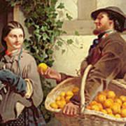 The Orange Seller  Art Print