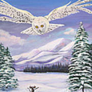The Owl And The Rat Print by Phyllis Kaltenbach