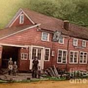 The Palmer Bates' Blacksmith Shop In Potter Hollow N Y Around 1910 Art Print