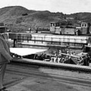 The Panama Canal, U.s. Troops Passing Art Print