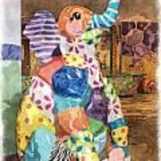 The Patchwork Elephant Art Art Print