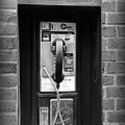 The Payphone - Black And White Art Print
