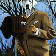 The Photographer - Dog Portrait Art Print by Linda Apple