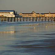 The Pier On Old Orchard Beach Art Print