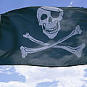 The Pirate Flag Known As The Jolly Art Print