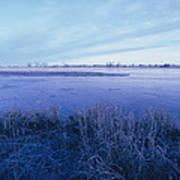 The Platte River In Central Nebraska Art Print