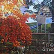 The Playhouse In Fall Art Print