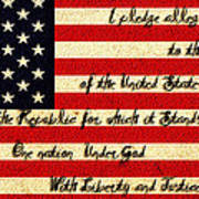 The Pledge Of Allegiance Art Print