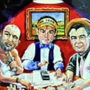 The Poker Game Art Print