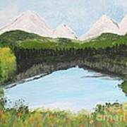 The Pond Art Print by Lorraine Louwerse