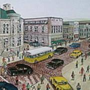The Portsmouth Ohio Post Office On The Esplanade 1948 Art Print