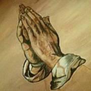 The Praying Hands Art Print