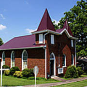 The Purple Church Art Print