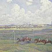 The Racecourse At Boulogne-sur-mer Art Print