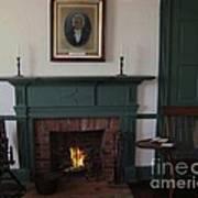 The Rankin Home Fireplace Art Print