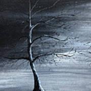 The Raven Piece 1 Of 2 Art Print by Gray  Artus