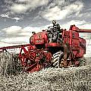 The Red Combine Art Print