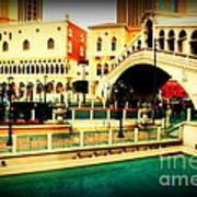 The Rialto Bridge Of Venice In Las Vegas Art Print