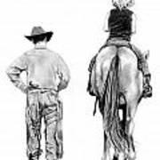 The Riding Lesson Art Print