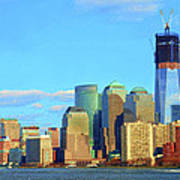 The Rising Freedom Tower Art Print