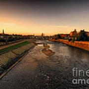 The River Exe At Tiverton Art Print
