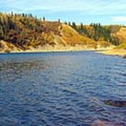 The River In Autumn Art Print