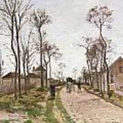 The Road To Saint Cyr At Louveciennes Art Print by Camille Pissarro