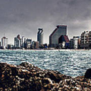 The Rocks_the Sea_the City Print by Amr Miqdadi