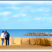 The Romantic Beach Art Print