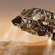 The Rover And Descent Stage For Nasas Art Print