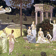 The Sacred Wood Cherished By The Arts And The Muses Art Print
