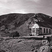 The Schoolhouse In Calico Ghost Town California Print by Susanne Van Hulst
