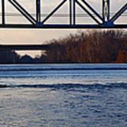The Schuylkill River At Bridgeport Art Print