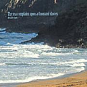 The Sea Complains Art Print