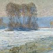 The Seine At Bennecourt Art Print