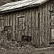 The Shed Sepia Art Print