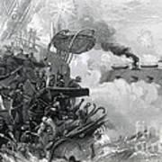 The Sinking Of The Cumberland, 1862 Art Print