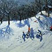 The Snowman  Print by Andrew Macara