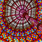 The Stained Glass Ceiling Art Print