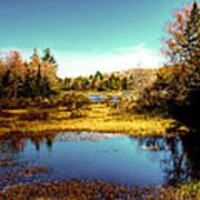 The Still Of Autumn In The Adirondacks Art Print