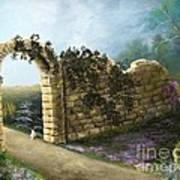 The Stone Wall Art Print
