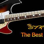 The Strat Les Guitar Art Print